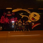 Posing vor dem Tourbus